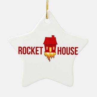 Ornement Étoile En Céramique Logo T de RocketHouse