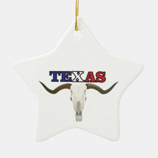 Ornement Étoile En Céramique longhorn mort du Texas