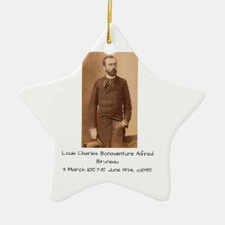 Ornement Étoile En Céramique Louis Charles Bonaventure Alfred Bruneau