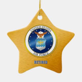 Ornement Étoile En Céramique L'U.S. Air Force retiré ornementent