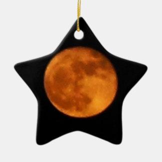 Ornement Étoile En Céramique Lune 2016 de sang