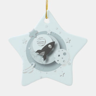 """Ornement Étoile En Céramique Lune de ęr """"Noël du bébé"""" et décoration d'étoiles"""