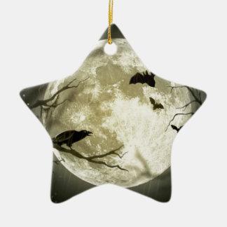 Ornement Étoile En Céramique lune de Halloween