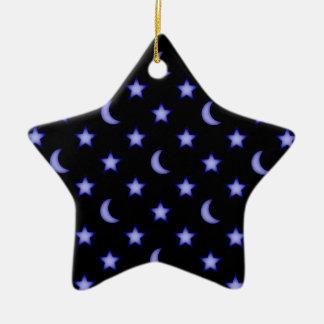 Ornement Étoile En Céramique Lunes et profil sous convention astérisque