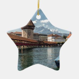 Ornement Étoile En Céramique Luzerne de pont de chapelle, Suisse