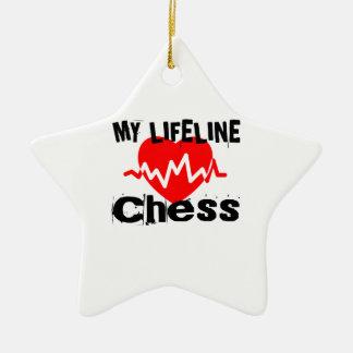 Ornement Étoile En Céramique Ma ligne de vie échecs folâtre des conceptions