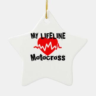 Ornement Étoile En Céramique Ma ligne de vie motocross folâtre des conceptions