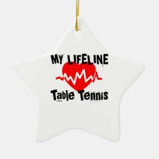 Ornement Étoile En Céramique Ma ligne de vie ping-pong folâtre des conceptions