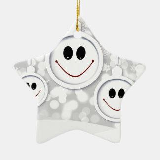 Ornement Étoile En Céramique maintenez le sourire heureux