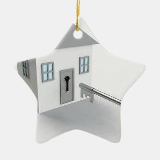 Ornement Étoile En Céramique Maison principale, vrai agent immobilier, se