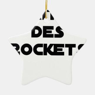 Ornement Étoile En Céramique MAÎTRE DES ROCKETS - Jeux de mots - Francois Ville