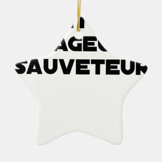 Ornement Étoile En Céramique Maître Rageur Sauveteur - Jeux de Mots