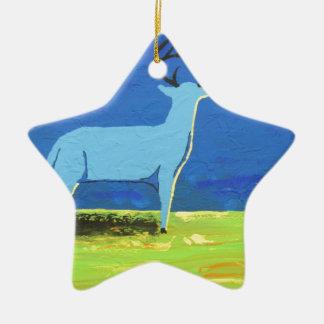 Ornement Étoile En Céramique Mâle bleu