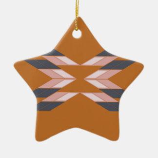 Ornement Étoile En Céramique Mandala ECO BROWN de conception