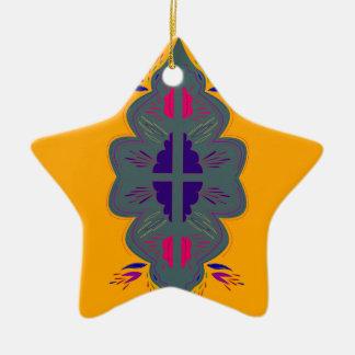 Ornement Étoile En Céramique Mandala Japon de conception