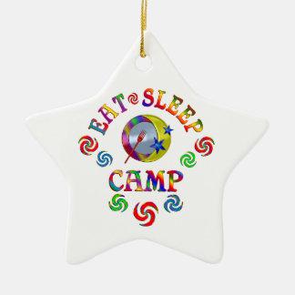 Ornement Étoile En Céramique Mangez le camp de sommeil