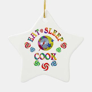 Ornement Étoile En Céramique Mangez le cuisinier de sommeil