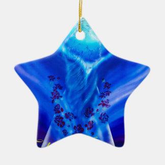 Ornement Étoile En Céramique Maria Noël heureux