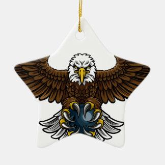 Ornement Étoile En Céramique Mascotte de roulement de sports d'Eagle