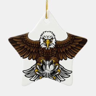 Ornement Étoile En Céramique Mascotte du football du football d'Eagle