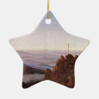 Ornement Étoile En Céramique Matin dans Riesengebirge - Caspar David Friedrich
