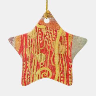 Ornement Étoile En Céramique Médecine de Gustav Klimt
