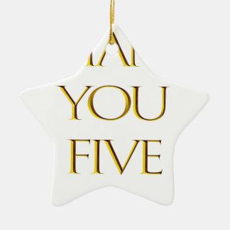 Ornement Étoile En Céramique Merci cinq !