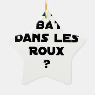 Ornement Étoile En Céramique Mettre des Bâtons dans les Roux ? - Jeux de Mots