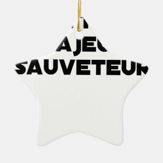 Ornement Étoile En Céramique METTRE MAJEUR SAUVETEUR - Jeux de mots