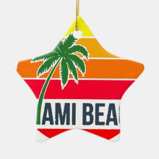 Ornement Étoile En Céramique Miami Beach