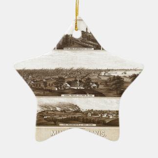 Ornement Étoile En Céramique Milwaukee 1882