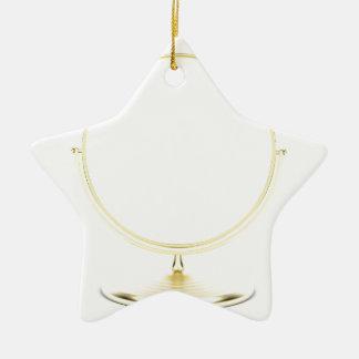 Ornement Étoile En Céramique Miroir de maquillage d'or