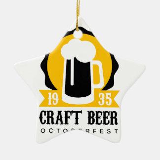 Ornement Étoile En Céramique Modèle de conception de logo de bière de métier