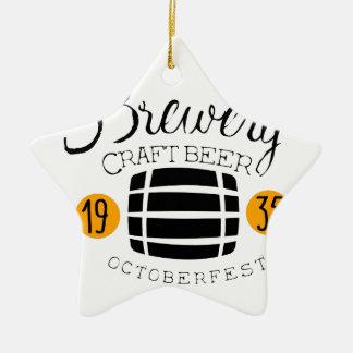 Ornement Étoile En Céramique Modèle de conception de logo de brasserie avec le
