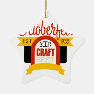 Ornement Étoile En Céramique Modèle de conception de logo d'Oktoberfest
