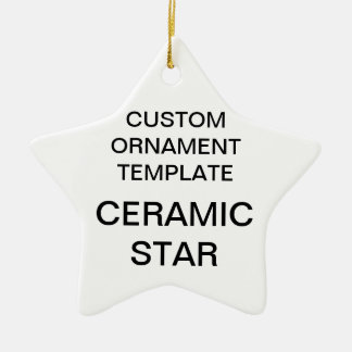 Ornement Étoile En Céramique Modèle fait sur commande d'ornement de Noël