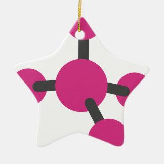 Ornement Étoile En Céramique Molécule
