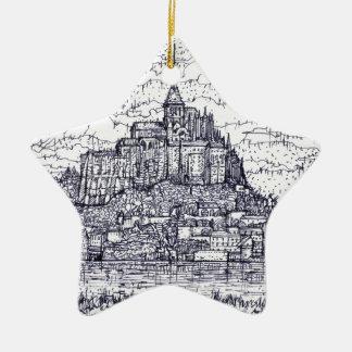 Ornement Étoile En Céramique mont saint-Michel
