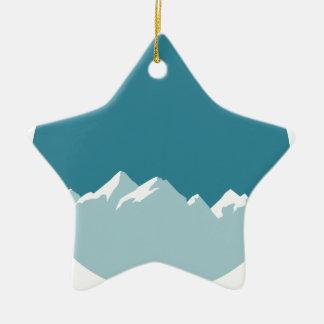 Ornement Étoile En Céramique montagne