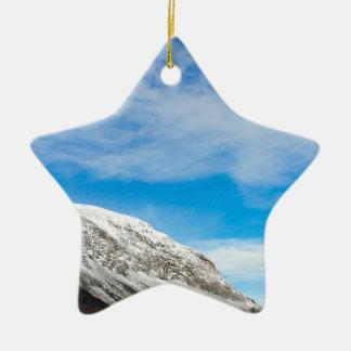 Ornement Étoile En Céramique Montagnes blanches New Hampshire