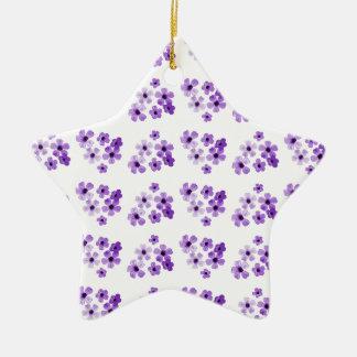 Ornement Étoile En Céramique Motif de fleurs pourpre