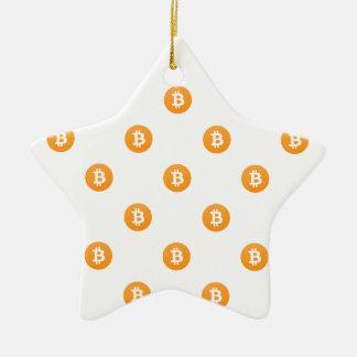 Ornement Étoile En Céramique Motif de logo de Bitcoin