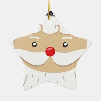 Ornement Étoile En Céramique Motif de Noël du père noël