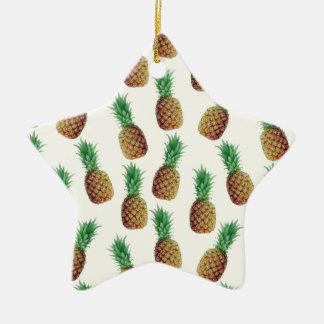 Ornement Étoile En Céramique Motif de papier peint d'ananas