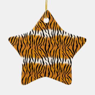 Ornement Étoile En Céramique Motif de tigre