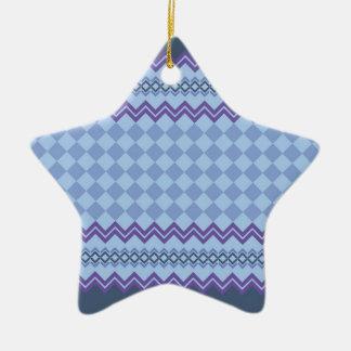 Ornement Étoile En Céramique Motif géométrique