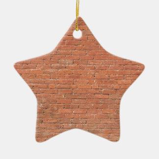 Ornement Étoile En Céramique Mur de briques rouge