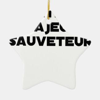 Ornement Étoile En Céramique Naître Majeur Sauveteur - Jeux de Mots