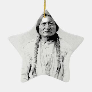 Ornement Étoile En Céramique Natif américain de Taureau de séance