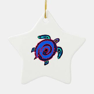 Ornement Étoile En Céramique Navigation tribale